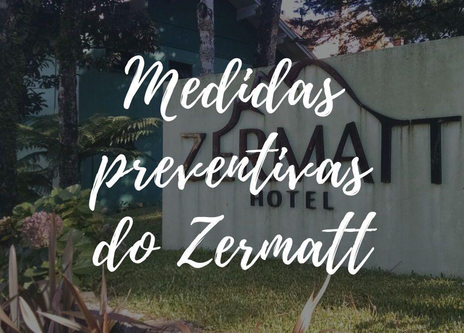 Medidas do Zermatt Hotel para atendimento durante a pandemia